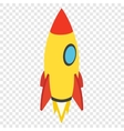 Rocket isometric 3d icon vector image vector image