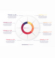 round circle infographic chart template vector image vector image