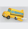 school bus airplane 3d icon vector image vector image