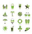sea and holiday icons vector image