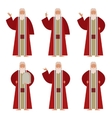 Set of Moses vector image vector image
