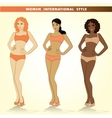 Set of three fashion girls vector image vector image