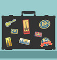 set of traveler sticker elements vector image