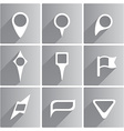Set of white pointers vector image vector image