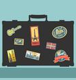 set traveler sticker elements vector image vector image