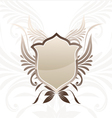 Shield Brown Decorative vector image vector image