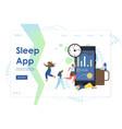 sleep app website landing page design vector image vector image