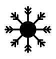 snowflake black icon isolated vector image vector image