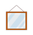 square mirror cartoon vector image