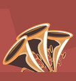 trumpet instrument icon vector image vector image