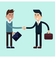 Two Businessmen on the Negotiations vector image