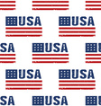 USA word flag pattern backgrouond Seamless vector image vector image