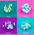vaccines development isometric design concept vector image
