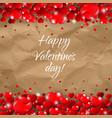 valentines day border cardboard background vector image vector image