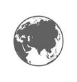 White and gray flat globe symbol