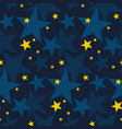 winter night snowflakes and stars seamless pattern vector image