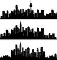 Silhouette skyline vector image