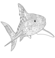 Stylized underwater shark vector image
