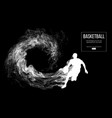 abstract silhouette of a basketball player vector image vector image
