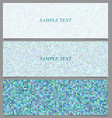 Abstract square mosaic pattern banner set vector image vector image
