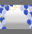 abstraction with realistic balloons light blue vector image vector image