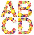 Alphabet from fruit ABCD vector image