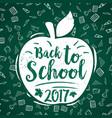 Back to school 2017 apple poster chalkboard