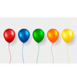 balloon realistic flying birthday helium vector image