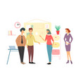 business people meeting team discussion vector image vector image