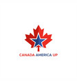 canada america up logo vector image