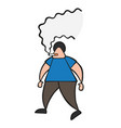 cartoon man walking and smoking cigarette vector image vector image