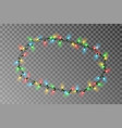 christmas lights oval border light string vector image vector image