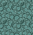 Curl seamless pattern Green circles abstract vector image