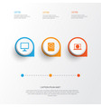 device icons set collection of desktop hdd web vector image vector image