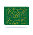 digital circuit board isolated on white copper vector image