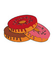 donut with sprinkles pastry icon image vector image vector image