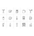 drink hand drawn sketch icon set vector image vector image