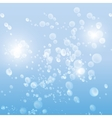drops in the blue water background vector image vector image