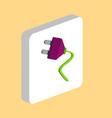 electric plug computer symbol vector image vector image