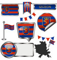 flag szczecin poland vector image vector image