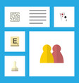 flat icon play set of mahjong labyrinth ace and vector image vector image