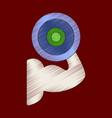 flat shading style icon logo bicep vector image vector image