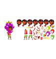 girl kindergarten kid animation creation vector image vector image