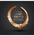 Gold silver bronze laurel wreath vector image vector image