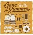 gone for the summer set vector image vector image