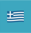 greece flag icon in flat design vector image