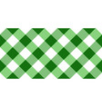 green and white argyle tablecloth seamless pattern vector image