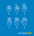 hands finger and numbers vector image