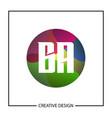 initial letter ba logo template design vector image