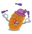 juggling challah mascot cartoon style vector image vector image